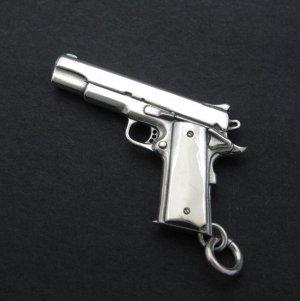 画像1: コルトガバメント シルバー925 ミニチュアガン ペンダントトップ M1911A1 Coltgovernment